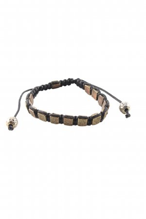 no name Armband schwarz-goldfarben Casual-Look