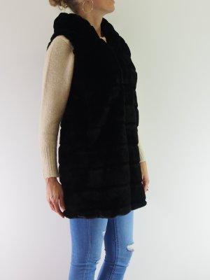 .12 puntododici Veste de fourrure noir fourrure