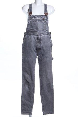 no name Salopette en jeans gris clair style décontracté