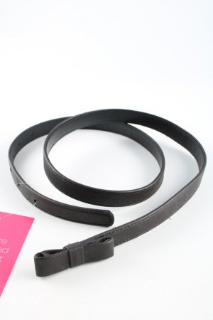 no name Faux Leather Belt black casual look