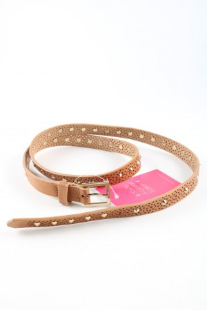 no name Studded Belt brown wet-look