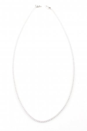 no name Statement Necklace silver-colored elegant