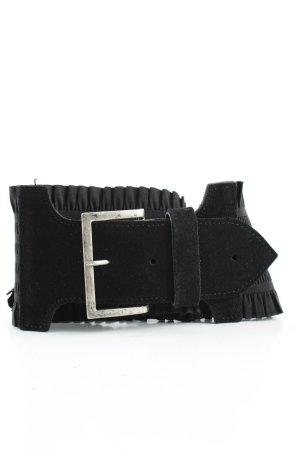 no name Cinturón de tela negro elegante