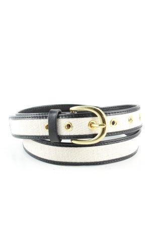 no name Waist Belt white-black business style