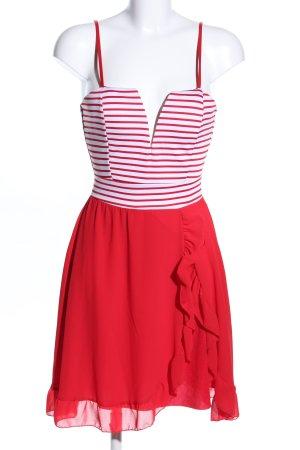 no name Trägerkleid rot-weiß Streifenmuster Elegant