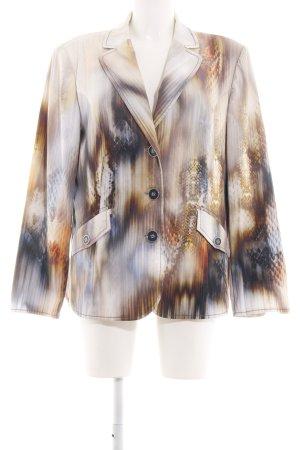 No1 Mode Express Long-Blazer abstraktes Muster extravaganter Stil