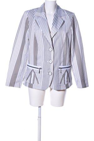 No1 Mode Express Blazer en tweed blanc-gris clair motif rayé