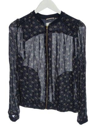 Noa Noa Blouse Jacket black abstract pattern casual look