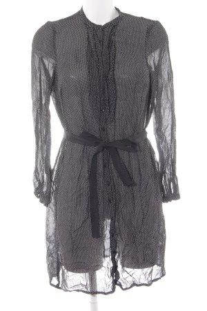 Noa Noa Blusenkleid schwarz-weiß Punktemuster Elegant