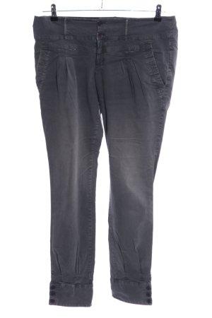 Noa Noa Pantalone a pieghe grigio chiaro stile casual