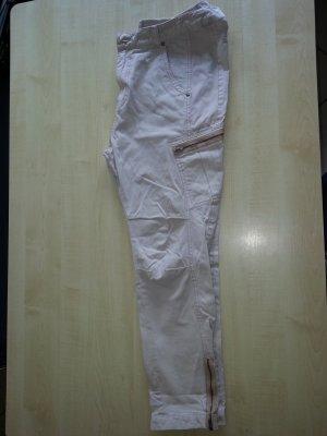 Noa Noa Pantalon cargo blanc-crème tissu mixte