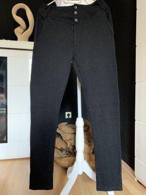 Noa Noa Pantalone di velluto a coste nero Cotone