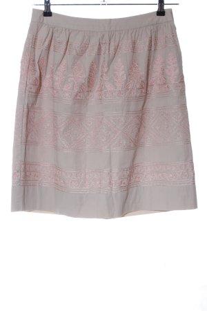 Noa Noa Glockenrock hellgrau-pink grafisches Muster Elegant