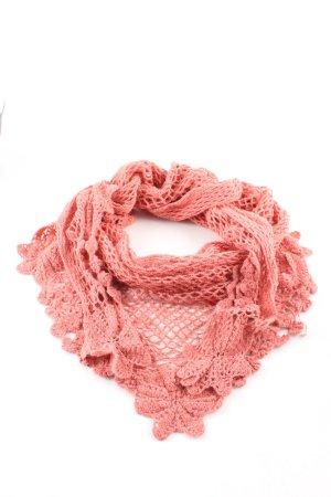 Noa Noa Gehaakte sjaal roze elegant