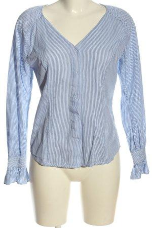 Noa Noa Hemd-Bluse blau-weiß Streifenmuster Casual-Look