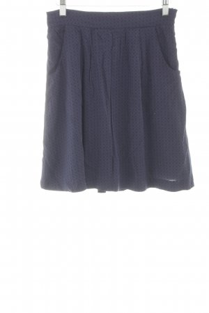 Noa Noa High Waist Rock blau grafisches Muster Street-Fashion-Look
