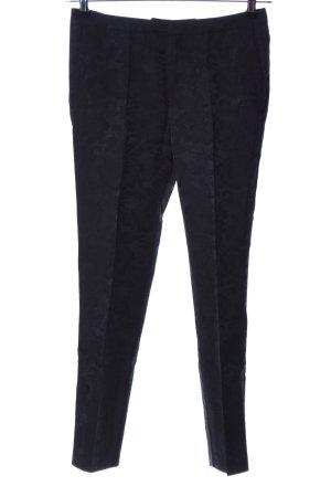 Noa Noa Pantalon fuselé noir motif de fleur style d'affaires