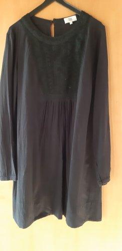 Noa Noa Vestido línea A negro tejido mezclado