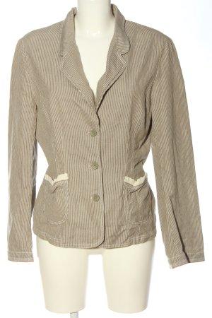 Noa Noa Kurz-Blazer braun-weiß Streifenmuster Business-Look
