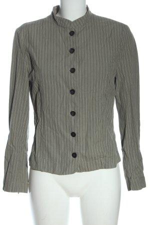 Noa Noa Blazer corto grigio chiaro-bianco sporco motivo a righe stile casual