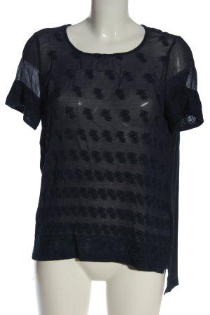 Noa Noa Camicetta a maniche corte nero stampa integrale elegante