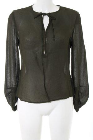 Noa Noa Langarm-Bluse khaki Business-Look