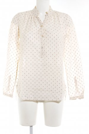 Noa Noa Long Sleeve Blouse cream-beige spot pattern casual look
