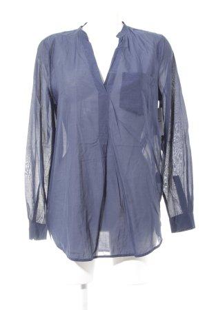 Noa Noa Langarm-Bluse dunkelblau klassischer Stil