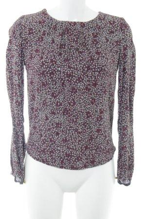 Noa Noa Langarm-Bluse pink-hellgrau Allover-Druck Casual-Look
