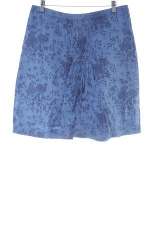 Noa Noa Minirock stahlblau-dunkelblau florales Muster Casual-Look