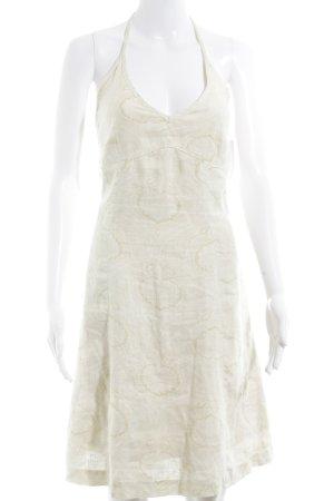 Noa Noa Vestido de cuello Halter crema estampado con diseño abstracto