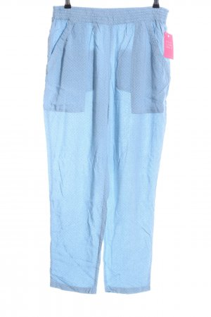 Noa Noa Palazzo Pants blue allover print casual look