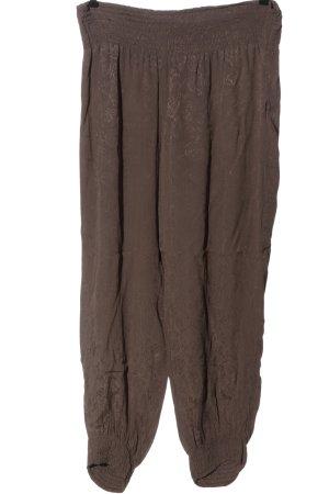 Noa Noa Pantalon large brun style décontracté