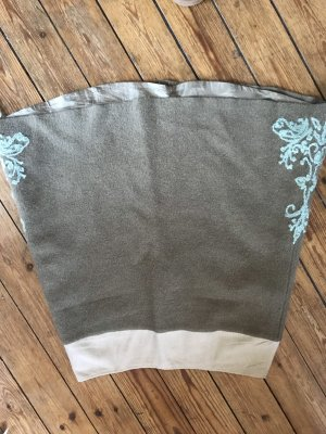 Noa Noa Falda de lana marrón grisáceo-turquesa