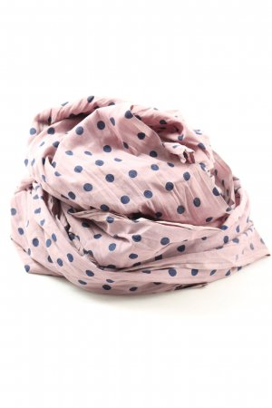 Noa Noa Shoulder Scarf pink-blue spot pattern casual look