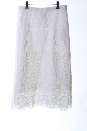 Noa Noa Falda de encaje blanco elegante