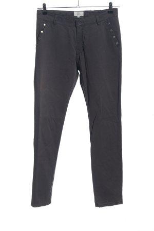 Noa Noa Jersey Pants blue-light grey elegant