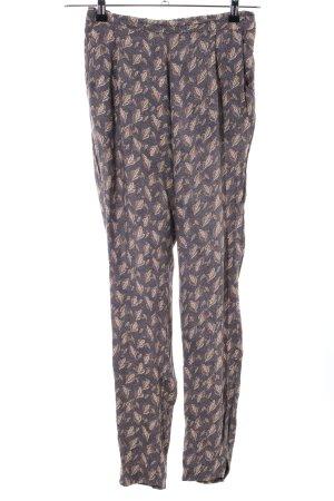 Noa Noa Jersey Pants brown-white allover print casual look