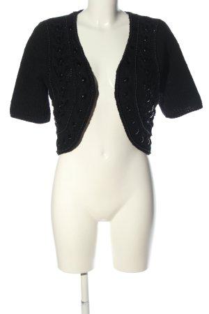Noa Noa Knitted Bolero black casual look