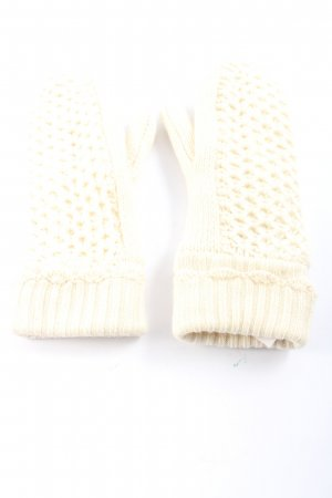 Noa Noa Knitted Gloves natural white casual look