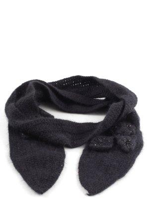 Noa Noa Écharpe en tricot noir style décontracté