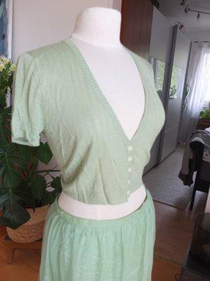 Noa Noa Short Sleeve Knitted Jacket lime-green viscose