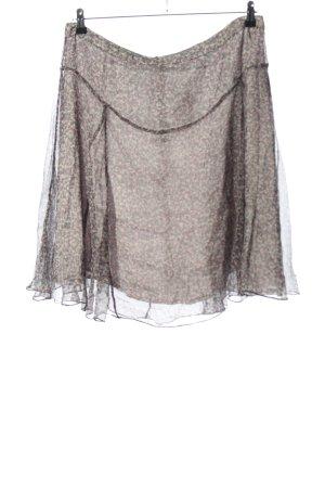 Noa Noa Gonna circolare grigio chiaro-bianco sporco motivo astratto stile casual