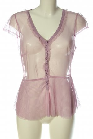 Noa Noa Blusa trasparente rosa look trasparente
