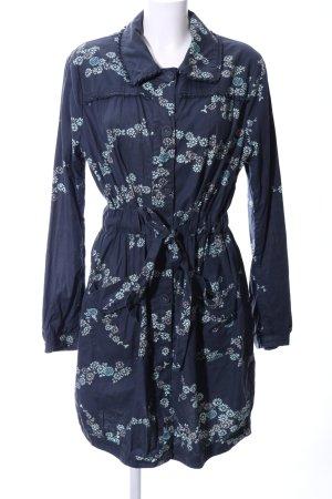 Noa Noa Abrigo de entretiempo azul-blanco puro estampado floral look casual