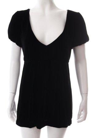 Noa Noa V-Ausschnitt-Shirt schwarz