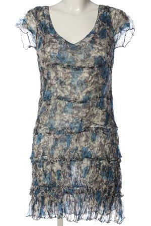 Noa Noa Volantkleid hellgrau-blau Blumenmuster Casual-Look