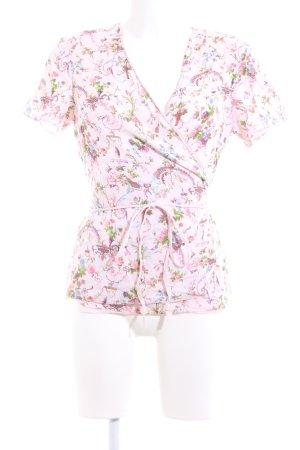 Noa Noa Blouse portefeuille rose motif de fleur élégant