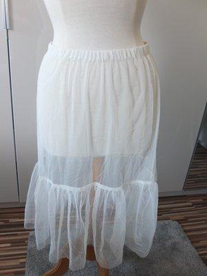 Noa Noa Jupe en tulle blanc cassé-rose chair polyester