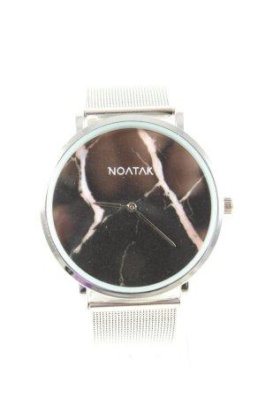 Noatak Montre avec bracelet métallique argenté style décontracté